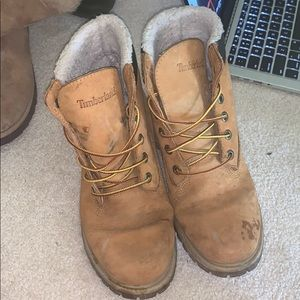 Timberland work boots fur lined
